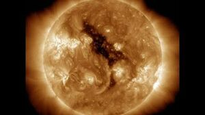 Discussion of a coronal hole on the Sun