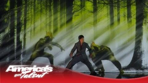 Kenichi Ebina - Robotic Dancer Becomes a Live Video Game Character - America's Got Talent 2013