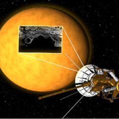 ...to reveals the liquid lakes of Titan