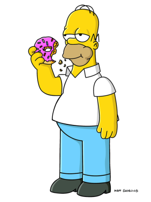 File:Homer simpson and donut-1090.png