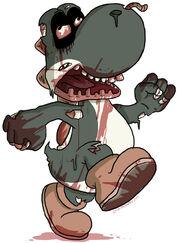 Zombie yoshi by jmirman-d31udbt