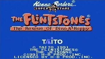 Flintstones The Rescue of Dino and Hoppy - NES Gameplay