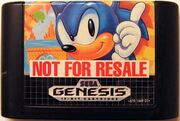 Sonic 1's Not For Sale cartridge.