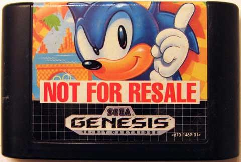 File:Sonic 1's Not For Sale cartridge..jpg