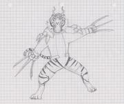 Damnel Tiger Sketch completed
