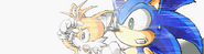Sonic and Tails seeing the Earth split apart
