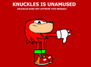 Knuckles Unamused