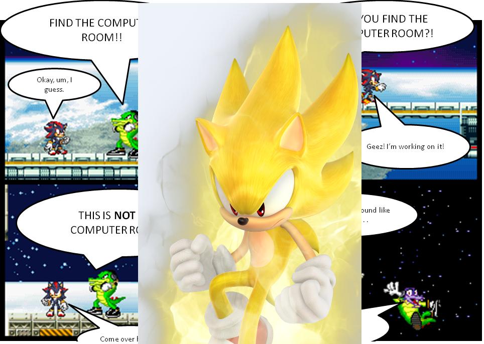 Super sonic destorys comic