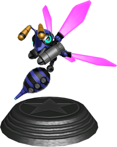 File:Sonic Generations Buzz Bomber Statue.png