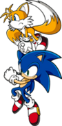 Sonic with Tails pose 4