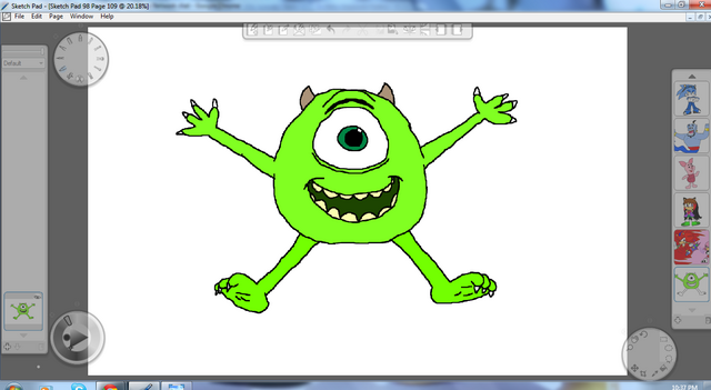 File:Mike Wazowski By Metal.png