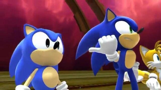 File:Modern & Classic Sonic.jpg