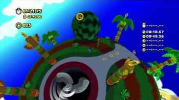 Sonic Lost World - Wii U - Tropical Coast Zone 2 and Master Zik boss battle