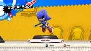Metal Sonic statue