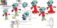 Breezie the Hedgehog Archie Artwork