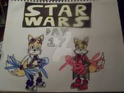 Star wars day 2017 tails skywalker vs fixer maul by erik the okapi-db85952