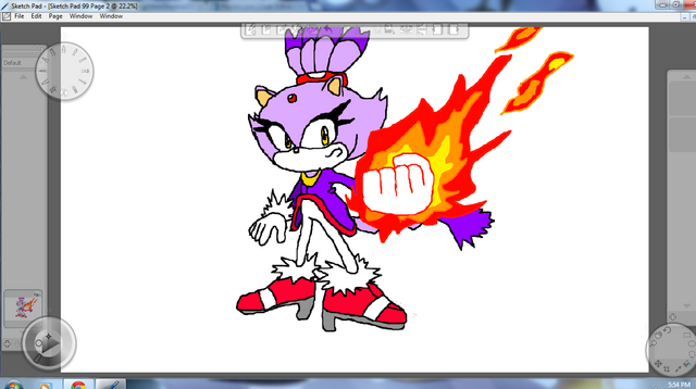 File:Blaze the Cat By Metal.png