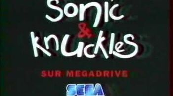 Sonic & Knuckles Sega Mega Drive french commercial