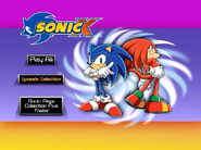 Sonic X Volume 2 AUS main menu