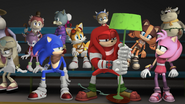 Knuckles with his lamp