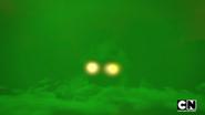 Og appearing in green smoke