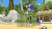 Sonic catches tails