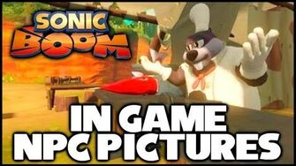 Sonic Boom (Wii U) - In Game NPC Pictures!