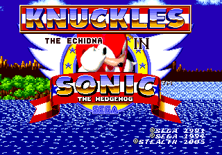 File:Knuckles The Echidna in Sonic the Hedgehog Title Screen.png