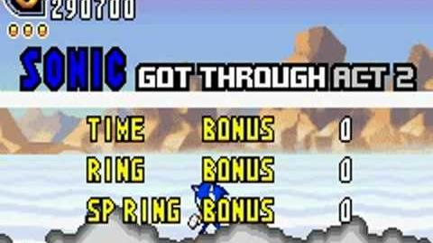 Sonic Advance 2 (GBA) Sky Canyon Zone