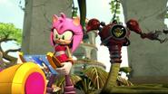 Amy calling Sonic