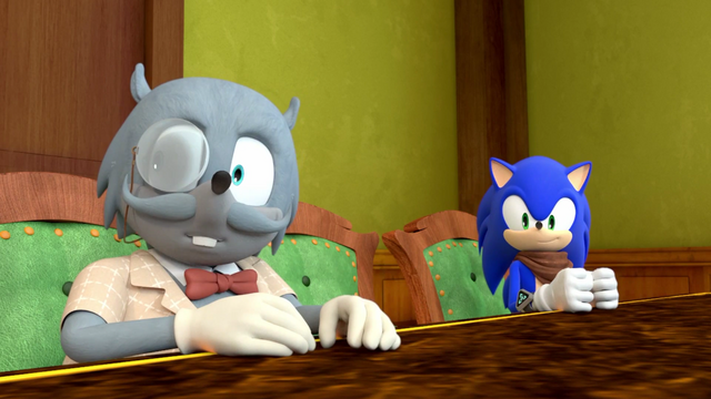 File:Professor Cluckins and Sonic.png