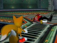 Tails defeated Eggman