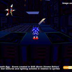Unos de los niveles desechados, Death Egg Zone.