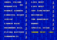 Level Select Sonic and Knuckles