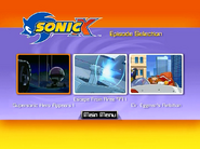 Sonic X Volume 1 AUS episode select