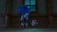 Annoyed Sonic looking At Chip