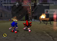 Sonic and Shadow punch