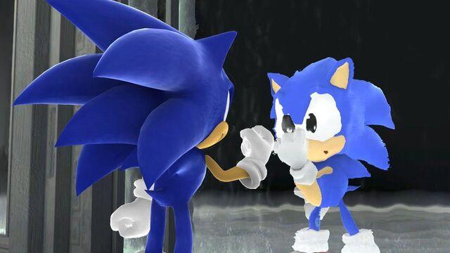 File:Sonic and Classic Sonic Cutscene.jpg