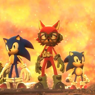 El Avatar con Modern y Classic Sonic.