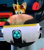 Tails in an Egg Mobile Sonic Boom