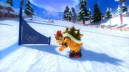 Bowser snowboarding