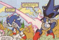 Metal Sonic dodging Sonic