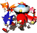 Sonic and Tails, Amy, Knuckles and Robotnik