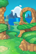Green Hill Cutscene Background