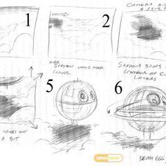 En unos de los planos de la escena de introducción se ve la Death Egg.