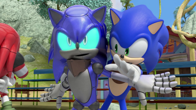 File:Cyborg Sonic blocks Sonic.png