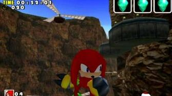 Sonic Adventure DX (GC) Knuckles Red Mountain Missions Level B and A