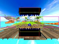 Sonic & SEGA All-Stars Racing Black Teeth FOV Ortho View