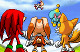 Sonic advance 2 ending artwork Sonic landing with Vanilla in his arms