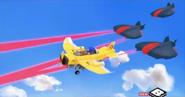 Laser plane battle